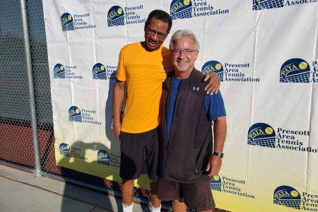 Mens 55 Doubles Champions - Gregory Arrington & Chris-Howard