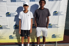 Mens Open Doubles Champions - Liam Peterson & Jaden Westbrooks