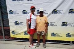 Womens 40 Doubles Champions - Claudette Laliberte & Fay Matsumoto